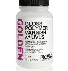 Golden Golden Gloss Polymer Varnish w/UVLS 8 oz Silgan Wide Mouth Round