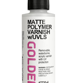 Golden Golden Matte Polymer Varnish w/UVLS 4 oz cylinder