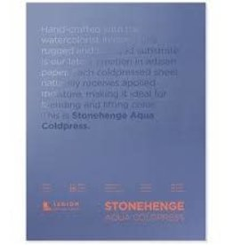 Legion Paper Legion Stonehenge Aqua Coldpress Block, 140lb 12x16