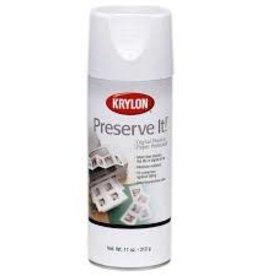Krylon Krylon Preserve-It Digital Photo & Paper Protectant Aerosol 11 Ounces Matte