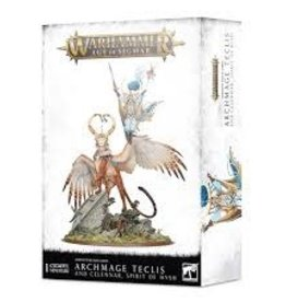 Games Workshop Warhammer AOS Lumineth Realm Lords Archmage Teclis and Celennar, Spirit of Hysh