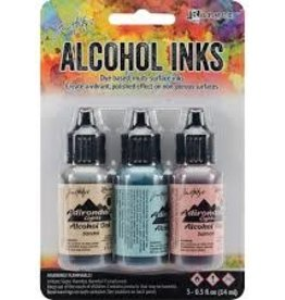 Ranger Ink Tim Holtz Alcohol Ink Lakeshore: Sandal, Aqua & Salmon