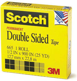 Scotch Double-Coated Tape, 3/4'' x 36 yds