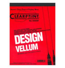 1000H Clearprint Design And Sketch, 8.5'' x 11'' Pad