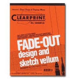 Clearprint 1000H Fade-Out Design and Sketch Vellum 4x4 Grid 18x24 pack of 50 sheets