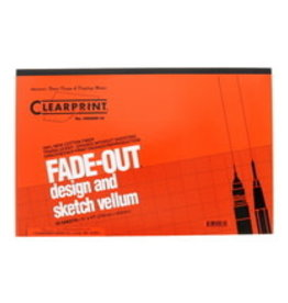 Clearprint 1000H Fade-Out Design and Sketch Vellum 10x10 Grid 11x17 pack of 50 sheets