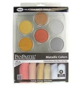 PanPastel Metallic Colours Set Metallics Kit 1 Of Each Color, Palette Tray, Sofft Tools