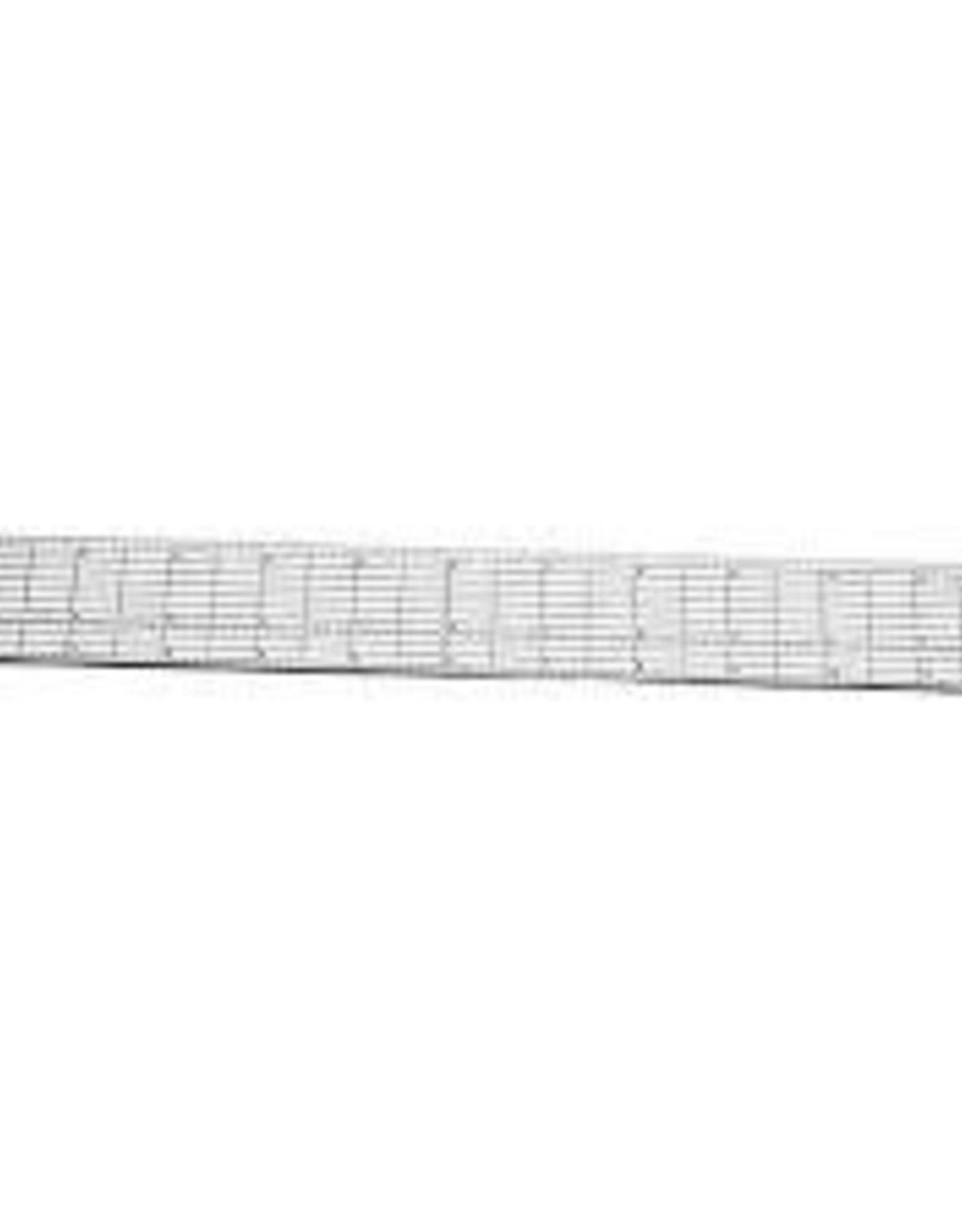 Wescott 1.5 x 18.5 Grid Ruler with Metal Cutting Edge