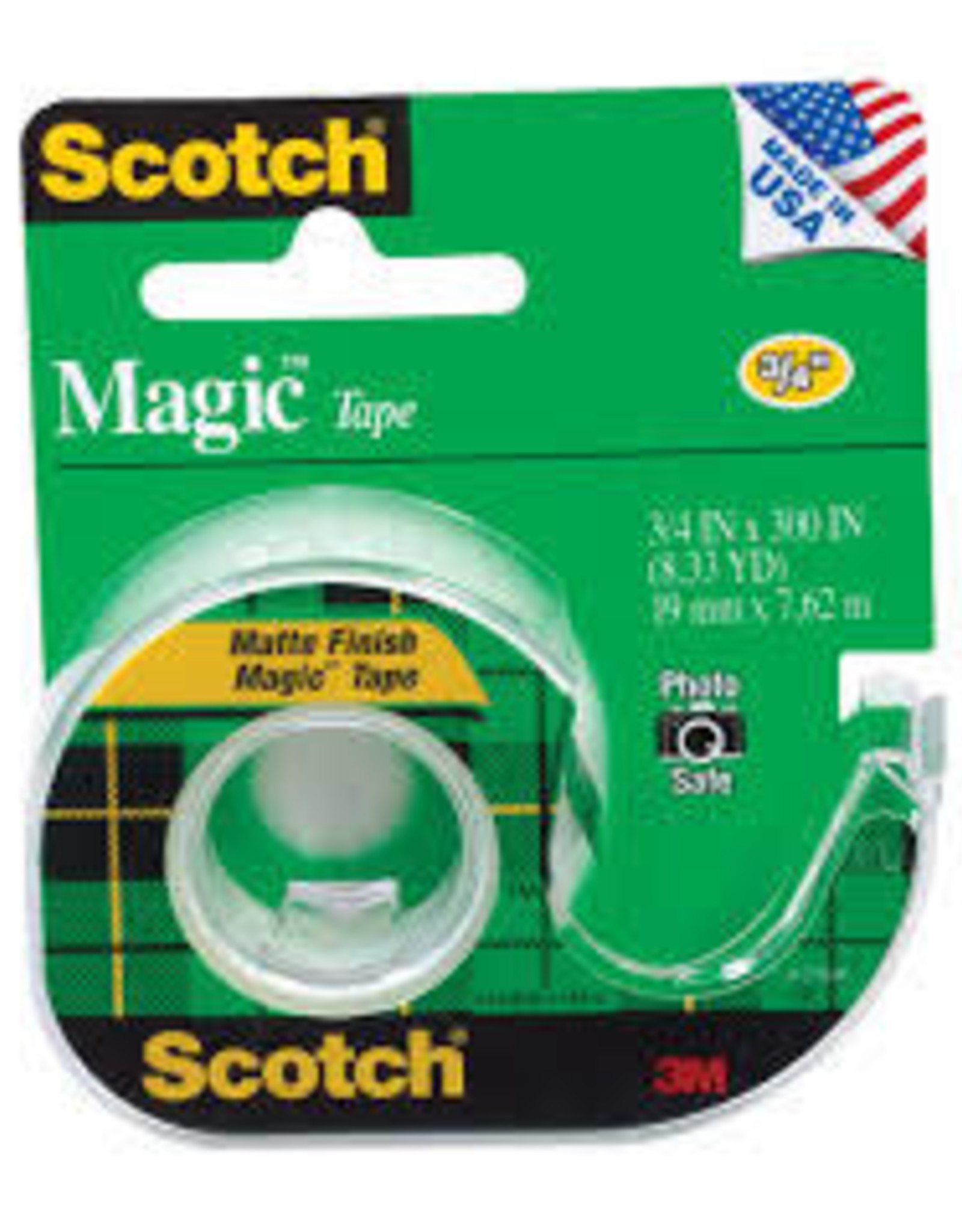 Three M 3M Magic Transparent Tape 3/4''x8yds.