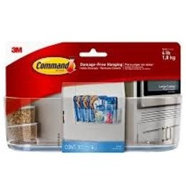 Three M Command Clear Large Caddy with Clear Strips