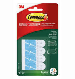 Three M Command Outdoor Foam Hanging Strip Refills Small 16-Strips