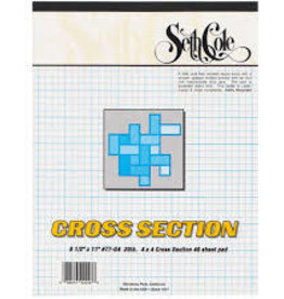 Seth Cole CROSS SECTION 8.5X11 8X8 PAD