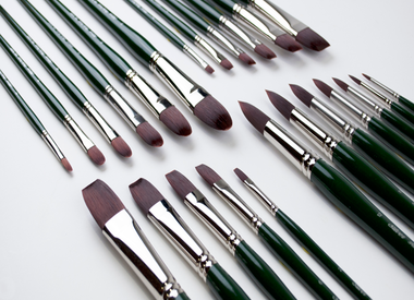 Silver Brush Ltd 2500 Ruby Satin Collection