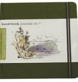 "SPEEDBALL ART PRODUCTS Travelogue Journal, Square, Cadmium Green, 5.5"" X 5.5"""
