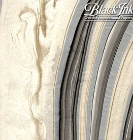 """Marbled - Black/Gold/Silver 18""""x25"""" Decorative Paper"""