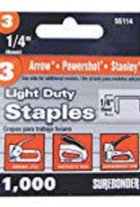 #3 Arrow Light Duty 1/4'' Staples 1000 Count