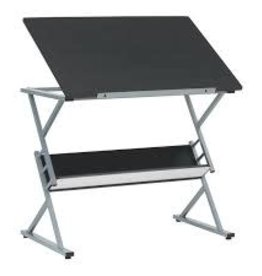 Prime Drawing Table (Silver/Black)