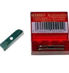 KUM Kum Tempered Steel Spare Blades for Kum Automatic Pencil Sharpeners, Pack of 3