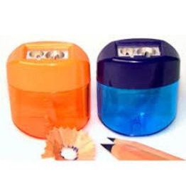 KUM Kum Magnesium Maxi Double Oval Pencil Sharpeners with Container, Colors Vary