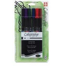 Sakura Pigma Calligrapher Pen 20 2Mm 6 Pk Asst