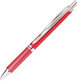 Pentel EnerGel Alloy Retractable Liquid Gel Pen 0.7mm Metal Tip Red