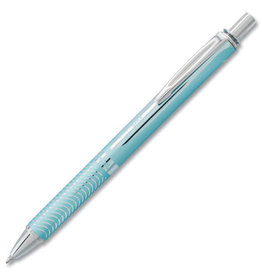 Pentel EnerGel Alloy Retractable Liquid Gel Pen 0.7mm Metal Tip Aqua