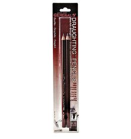 General Pencil General Pencil Draughting Pencils 2pk