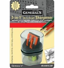 General Pencil General Pencil 3-in-1 Sharpener