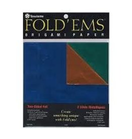 Yasutomo Fold 'Ems Origami Double-Sided Foil/Solid Paper 6'' 18pk
