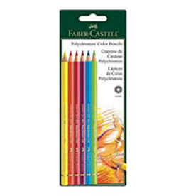 FABER-CASTELL Faber-Castell Polychromos 6 Ct BC Colored Pencils