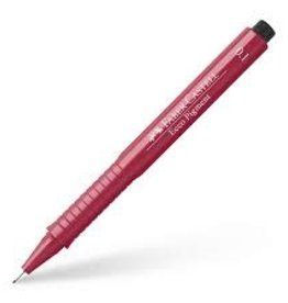 FABER-CASTELL Faber-Castell Ecco Fineliner Pigment Pen, 0.1 mm, Red