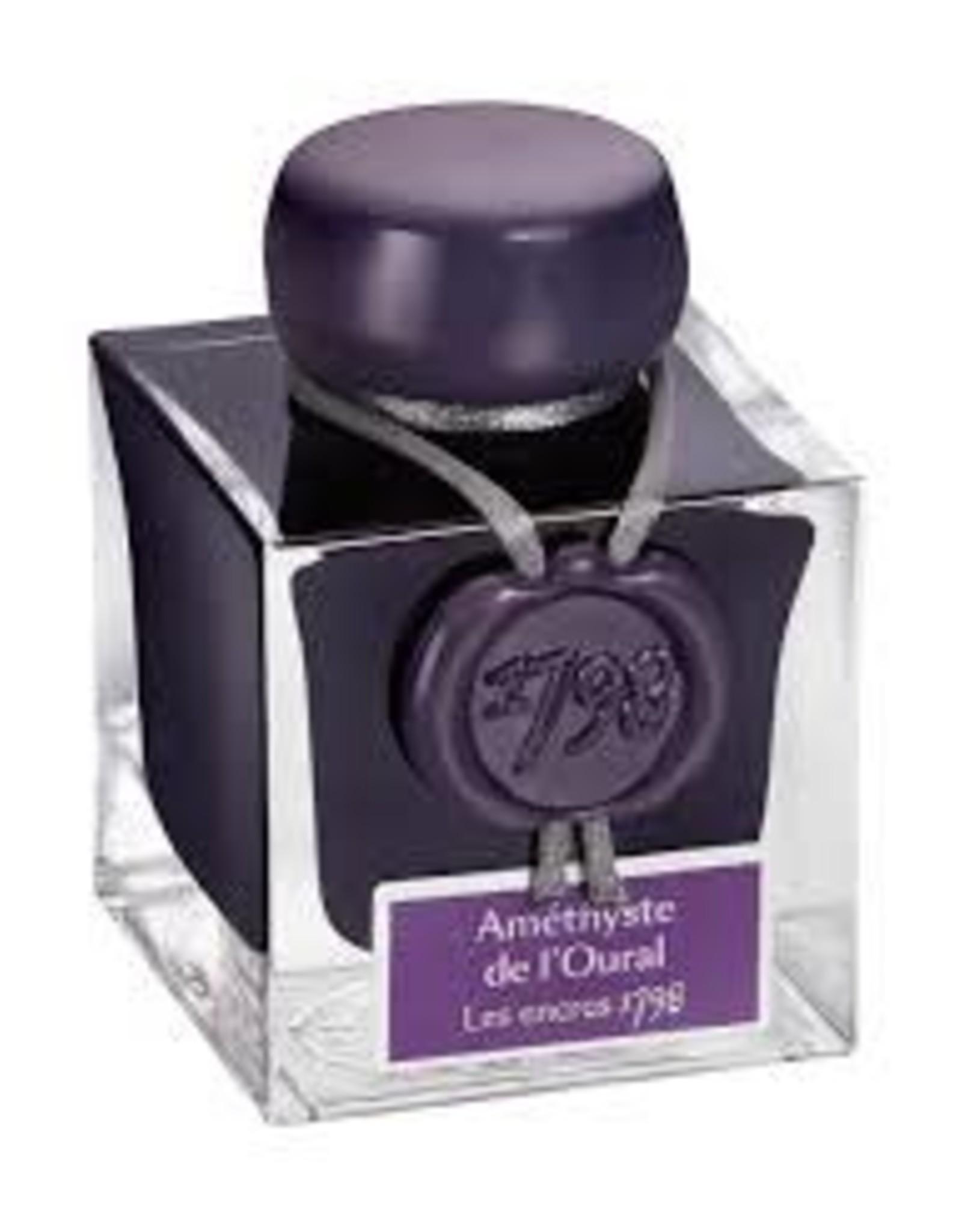 Herbin 1798 Anniversary Inks, Silver Sheen 50ml Bottle, Amethyste de L'Oural