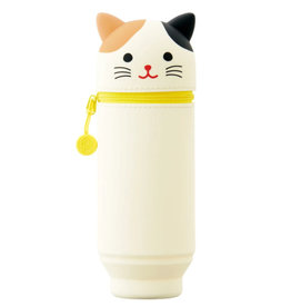 Itoya Punilabo Silicone Stand Up Case, Calico Cat