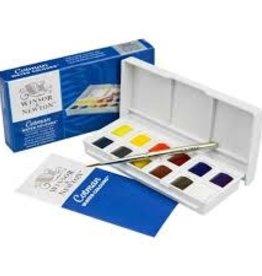 Winsor & Newton Cotman Water Colour Paint Sketchers' Pocket Box, Half Pans, 14-Pieces