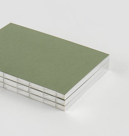 Itoya Mishmash Holy Silver Notebook, Mid Green