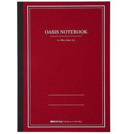 Itoya Oasis Notebook, Large, Red