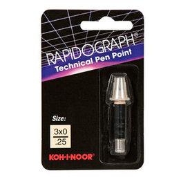 Koh-l-noor Koh-I-Noor Rapidograph Replacement Point 3x0/.25mm
