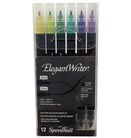 SPEEDBALL ART PRODUCTS Speedball Elegant Writer® Dual-Tipped Marker Set, 12 pc