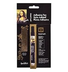 SPEEDBALL ART PRODUCTS Mona Lisa Adhesive Pen with Simple Leaf Gold, 6 sht