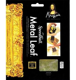 "SPEEDBALL ART PRODUCTS Mona Lisa Composition Gold Leaf , 5.5"" X 5.5"", 25 sht"