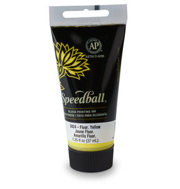 SPEEDBALL ART PRODUCTS Speedball Water-Soluble Block Printing Ink, Yellow, 1.25 oz