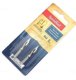 SPEEDBALL ART PRODUCTS Speedball Drawing & Lettering #512 Twin Pack Nibs