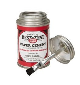 SPEEDBALL ART PRODUCTS Best-Test Premium Paper Cement, Brush In Cap, 4 oz