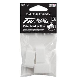 Daler-Rowney DALER FW Paint Marker Nib Large, Flat, 301 3-Pack