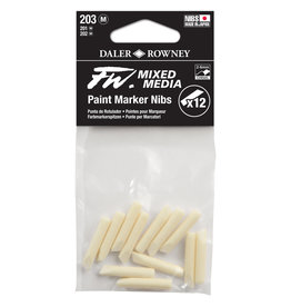 Daler-Rowney DALER FW Paint Marker Nib Medium, Chisel, 203 12-Pack