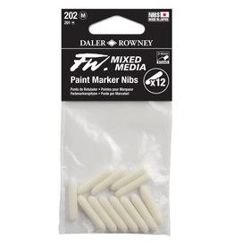 Daler-Rowney DALER FW Paint Marker Nib Medium, Round, 202 12-Pack