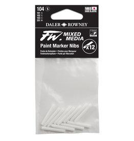 Daler-Rowney DALER FW Paint Marker Nib Small, Chisel, 104 12-Pack