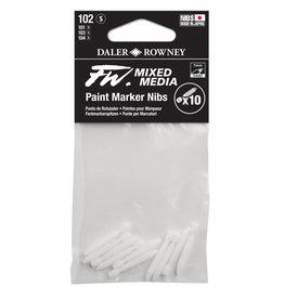 Daler-Rowney DALER FW Paint Marker Nib Small, Hard, 102 10-Pack