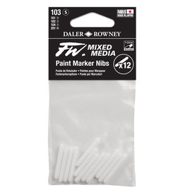 Daler-Rowney DALER FW Paint Marker Nib Small, Round, 103 12-Pack