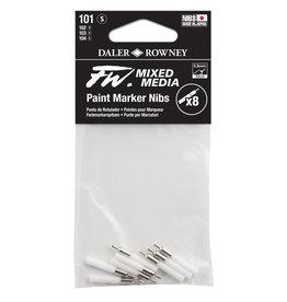 Daler-Rowney DALER FW Paint Marker Nib Small, Technical, 101 8-Pack